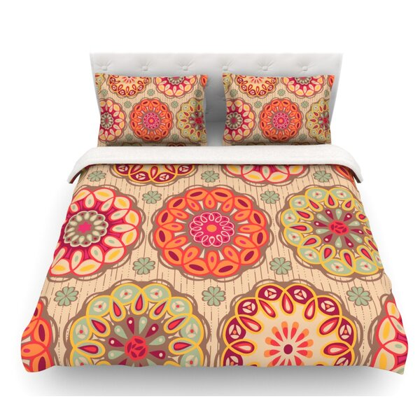 Festival Folklore by Suzie Tremel Vintage Floral Featherweight Duvet Cover by East Urban Home