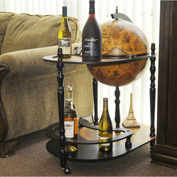 Globe Drinks Trolley 420mm-Red by Astoria Grand