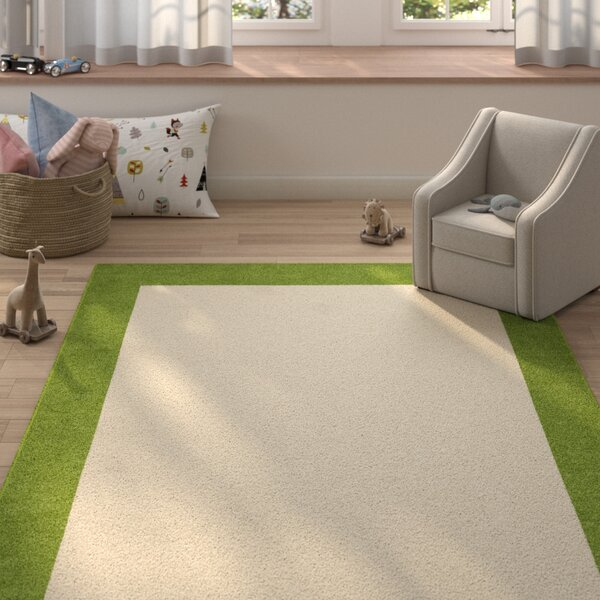 Degen Hand Tufted Wool Olive Green/Beige Area Rug by Zoomie Kids