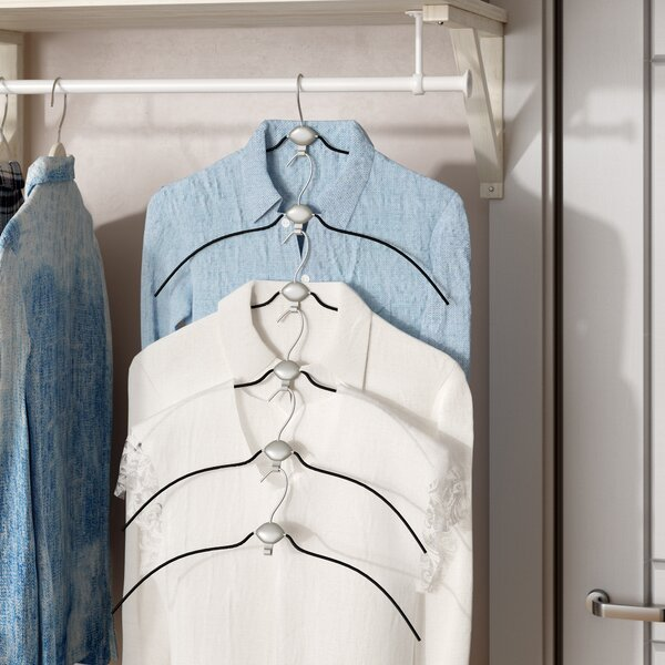 Non-Slip Cascading Blouse Hangers (Set of 6) by Rebrilliant