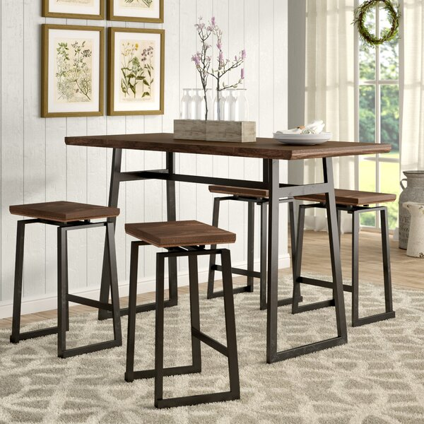Platane Industrial 5 Piece Counter Height Dining Set by Wade Logan