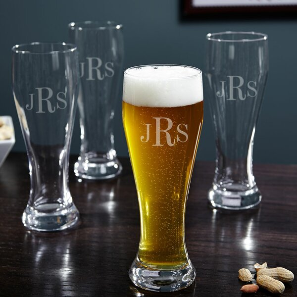 Personalized 23 oz. Pilsner Glass (Set of 4) by Home Wet Bar