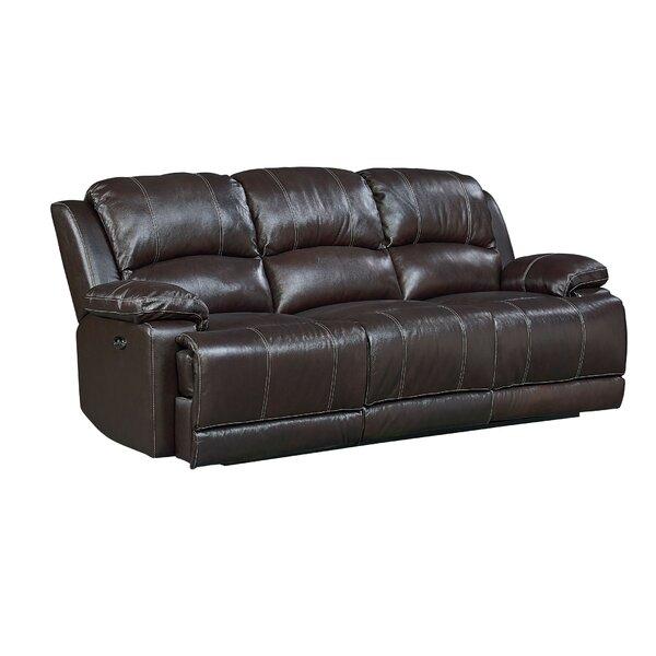 Garlock Leather Reclining Sofa by Red Barrel Studio