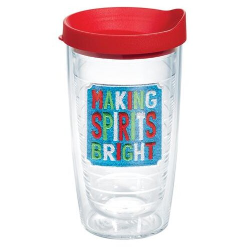 Seasonal Making Spirits Bright Plastic Travel Tumbler by Tervis Tumbler