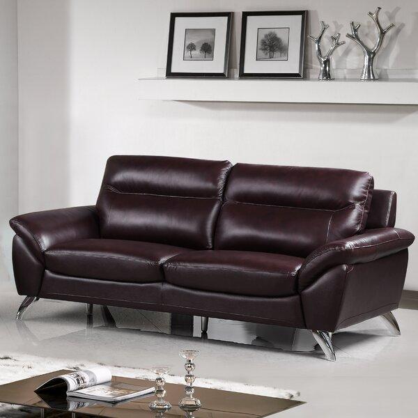 Richman Leather Sofa by Orren Ellis