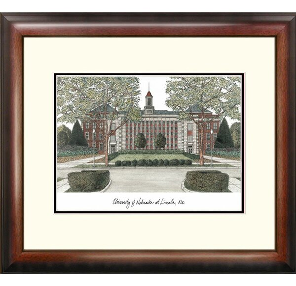 NCAA University of Nebraska Alumnus Lithograph Framed Photographic Print by Campus Images