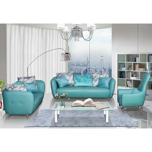 Abordale 3 Piece Living Room Set by Latitude Run®