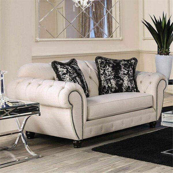 Londono Chesterfield Loveseat by Rosdorf Park
