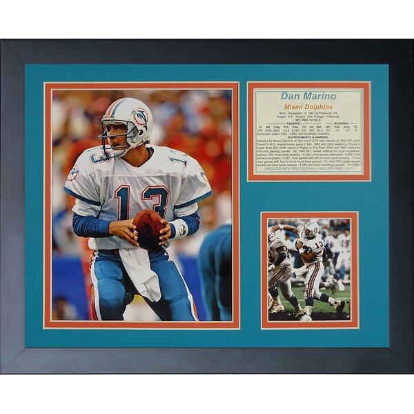 Dan Marino Away Framed Memorabilia by Legends Never Die
