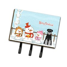 Christmas Standard Schnauzer Leash or Key Holder by Caroline's Treasures