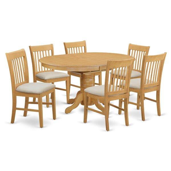 Emmaline 7 Piece Dining Set by Alcott Hill