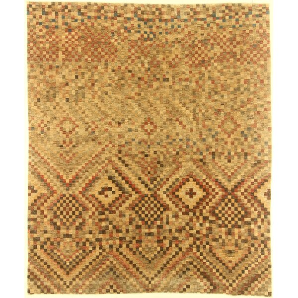 One-of-a-Kind Cora Hand-Knotted Wool Ivory Area Rug by Isabelline