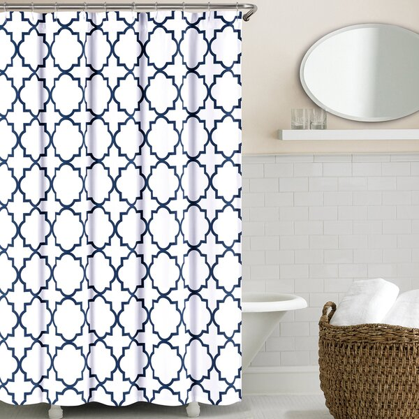 Prattsburgh Cotton Shower Curtain by Three Posts