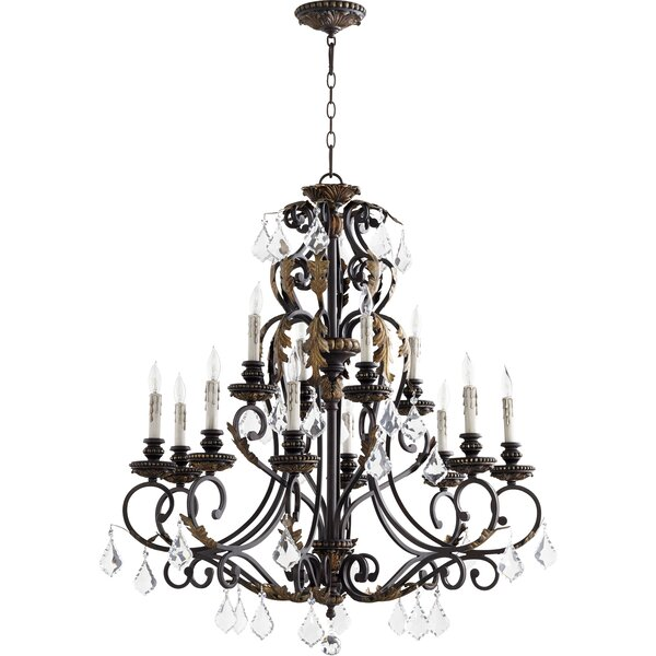 Ancram 12-Light Candle Style Classic / Traditional Chandelier By Astoria Grand