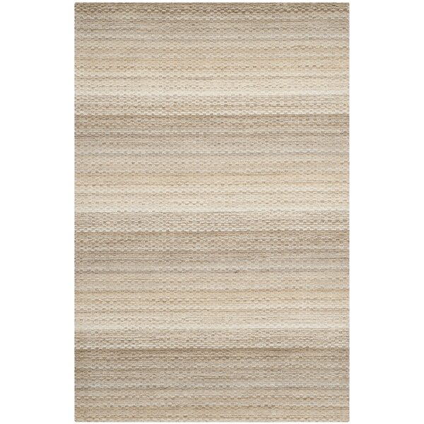 Keith Beige Stripes Area Rug by Latitude Run