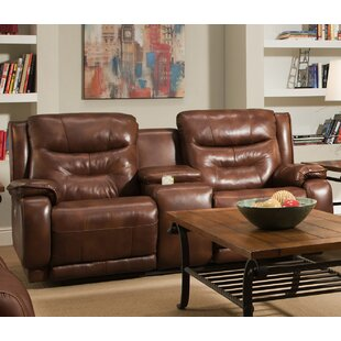 Crescent Leather Reclining Loveseat by Southern Motion