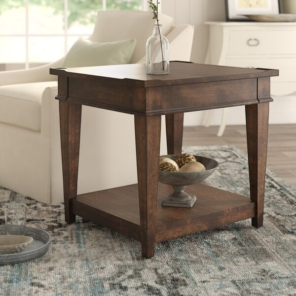 Wheaton End Table With Storage By Birch Lane™ Heritage