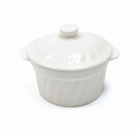 White Basics Small Ramekin with Lid (Set of 6) by Maxwell & Williams