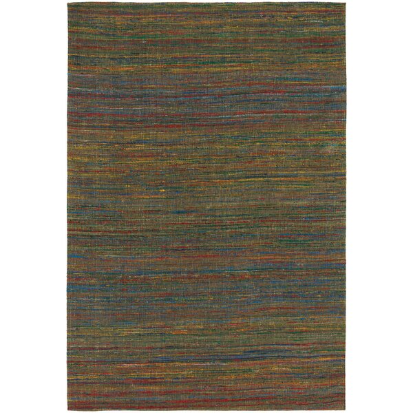 Cabarley Dhurrie Brown Area Rug by Latitude Run