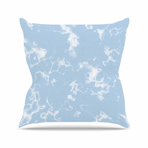 Vasare Nar Marble Clouds Outdoor Throw Pillow by East Urban Home