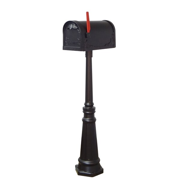 Floral Curbside Locking Mailbox, with Tacoma Post Included by Special Lite Products