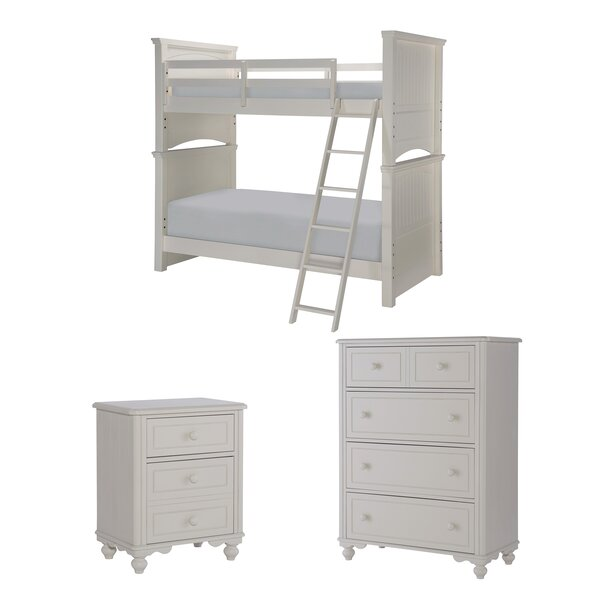 Summerset Twin Over Full Storage Bunk Bed Customizable Bedroom Set by LC Kids