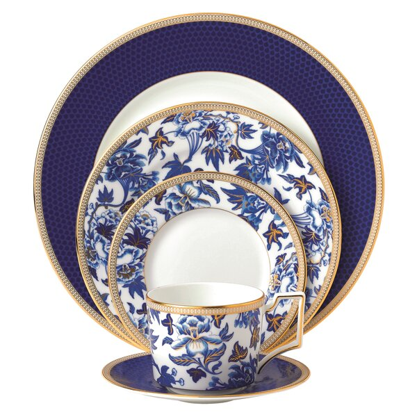 Hibiscus Bone China 5 Piece Place Setting, Service for 1 by Wedgwood