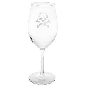 Skull and Cross Bones 18 oz. All Purpose Wine Glass (Set of 4)