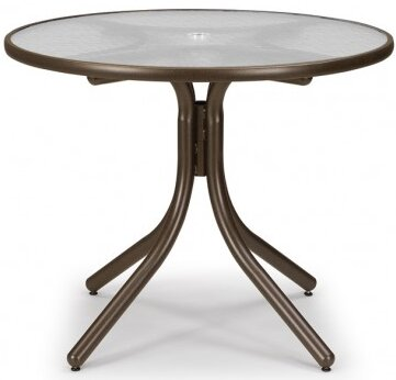 Glass 36 Round Dining Table by Telescope Casual