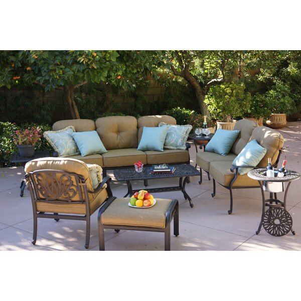 Lebanon 8 Piece Sofa Seating Group with Cushions by Three Posts