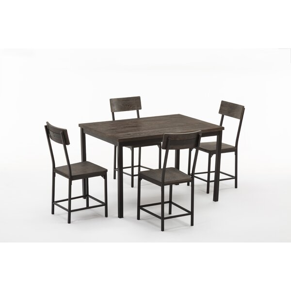 Best #1 Bushman 5 Piece Dining Set By Williston Forge Great price