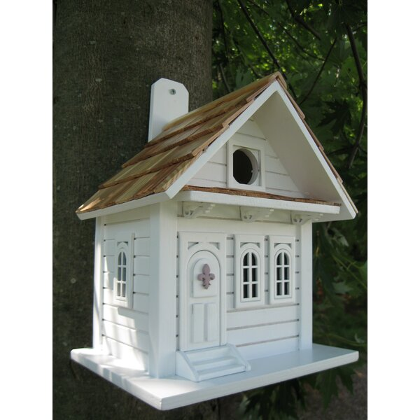 Fledgling Series Shotgun Cottage 10 in x 8 in x 6 in Birdhouse by Home Bazaar