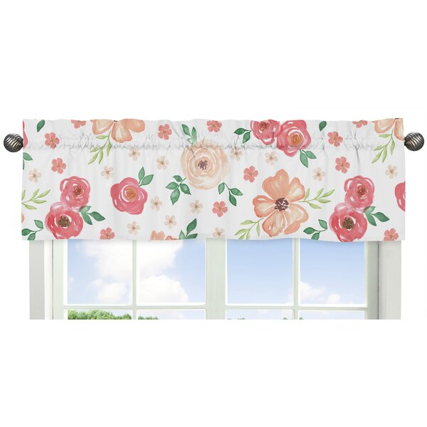 Watercolor Floral 54 Window Valance by Sweet Jojo Designs