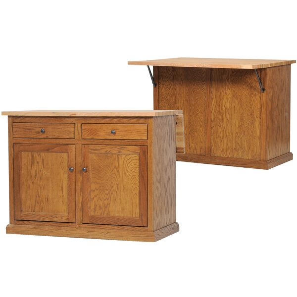Mairead Kitchen Island with Flip-Up Top by Longshore Tides