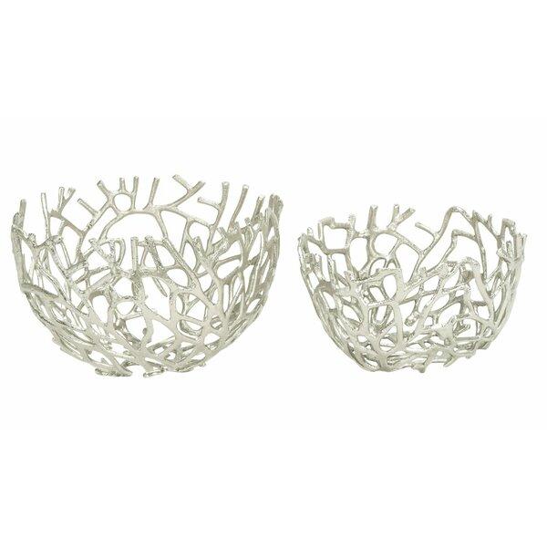 2 Piece Decorative Bowl Set by Cole & Grey