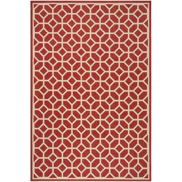 Didmarton Red/Creme Area Rug by Corrigan Studio