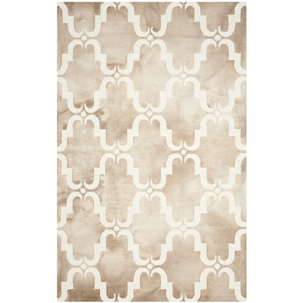 Hand-Tufted Dip Beige/Ivory Area Rug by Bungalow Rose