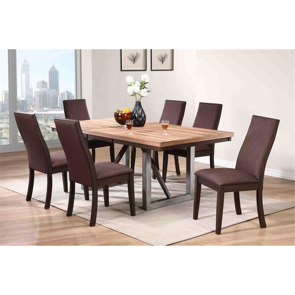 #1 Tickenham 7 Piece Solid Wood Dining Set By Union Rustic Coupon