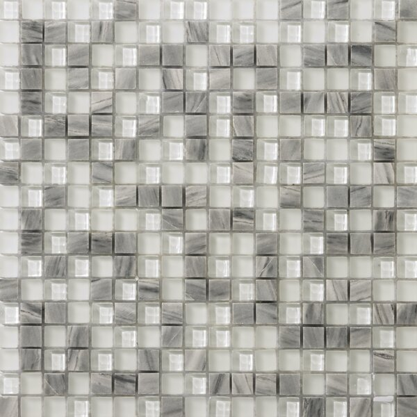 Lucente 0.6 x 0.6/12 x 12 Glass Stone Blend Mosaic Tile in Grazia by Emser Tile