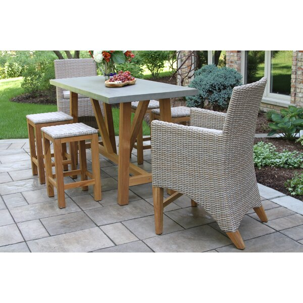 Sutter 7 Piece Teak Sunbrella Dining Set by Gracie Oaks