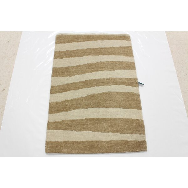 One-of-a-Kind Darley Hand-Knotted Wool Ivory Area Rug by Isabelline