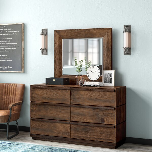 Petra 6 Drawer Double Dresser by Loon Peak