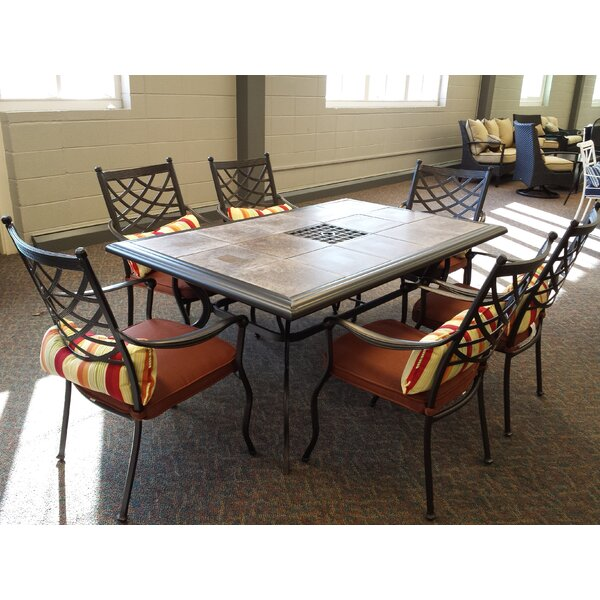 Bridgeton 7 Piece Dining Set with Cushions by Bay Isle Home