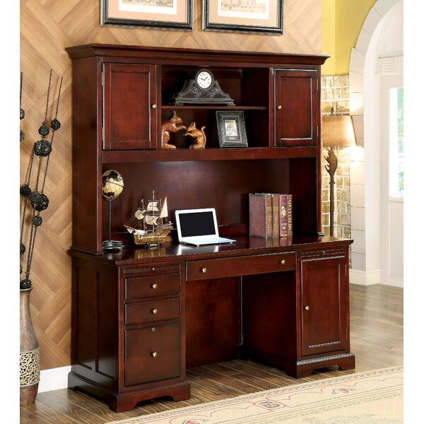 Rickman Executive Desk with Hutch by Canora Grey