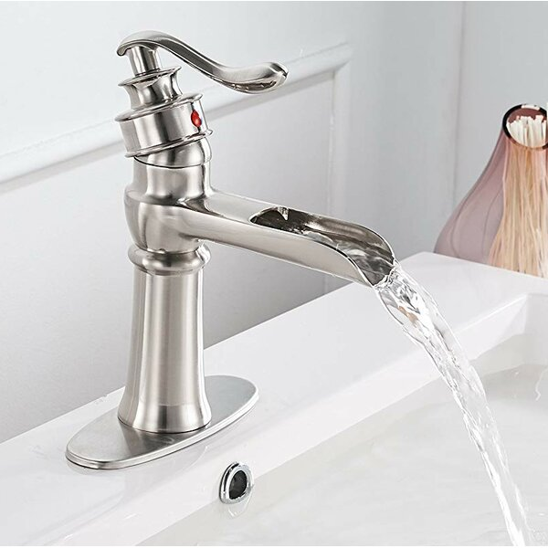 DFI Waterfall Sink Single Hole Bathroom Faucet by
