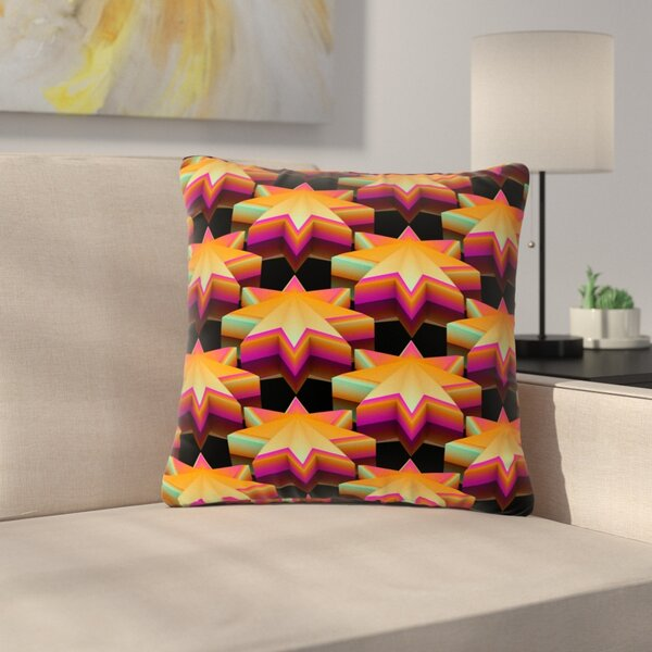 Danny Ivan Stars Pattern Outdoor Throw Pillow by East Urban Home