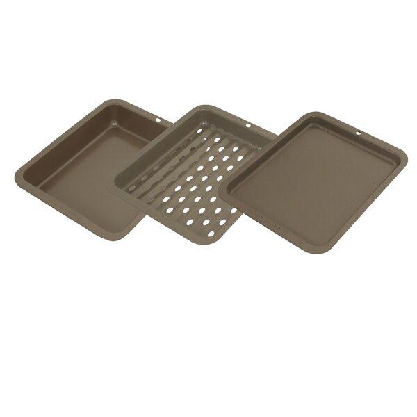3-Piece Nonstick Toaster Oven Bakeware Set by Range Kleen