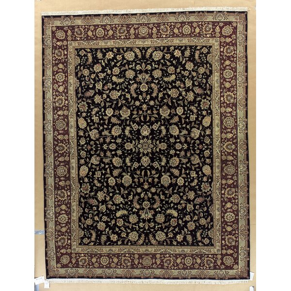 Beason Hand-Woven Black Area Rug by Darby Home Co