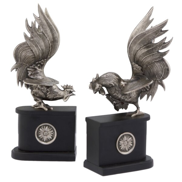 Rooster Book Ends (Set of 2) by Modern Day Accents