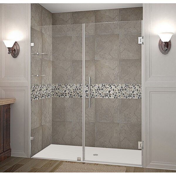 Nautis GS 62 x 72 Hinged Completely Frameless Shower Door by Aston
